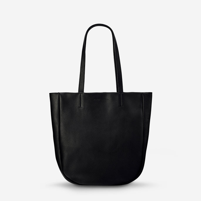 Status Anxiety Appointed Women's Large Leather Tote Bag - Black