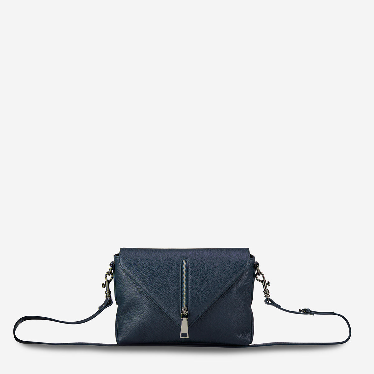 Status Anxiety Exile Women's Leather Crossbody Bag - Navy Blue
