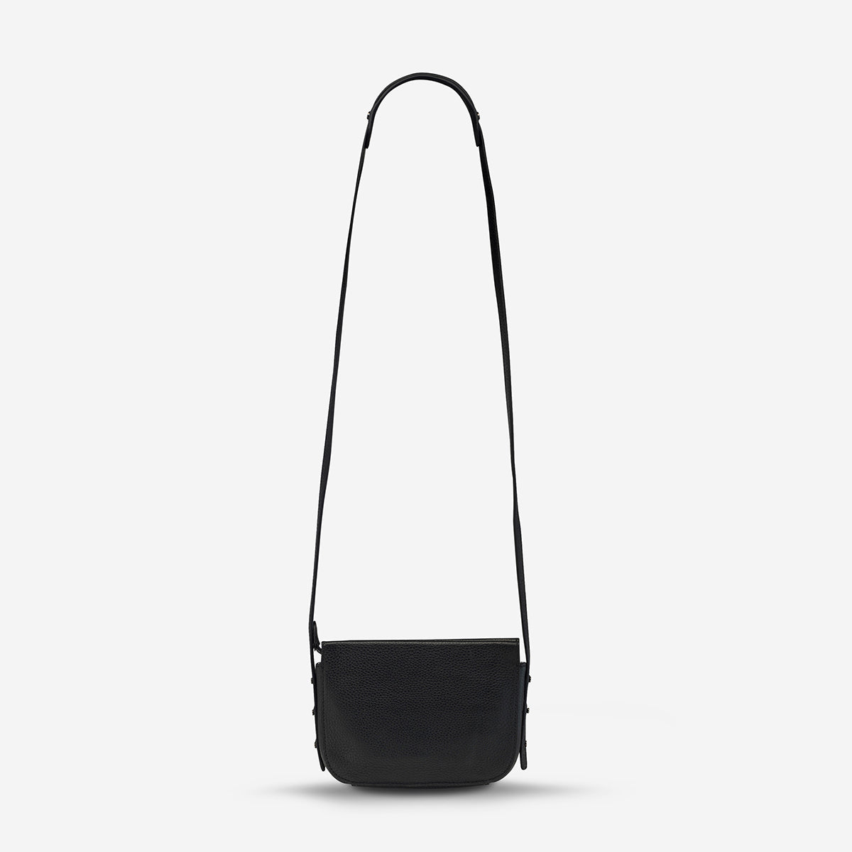 Status Anxiety In Her Command Women's Leather Crossbody Bag - Black
