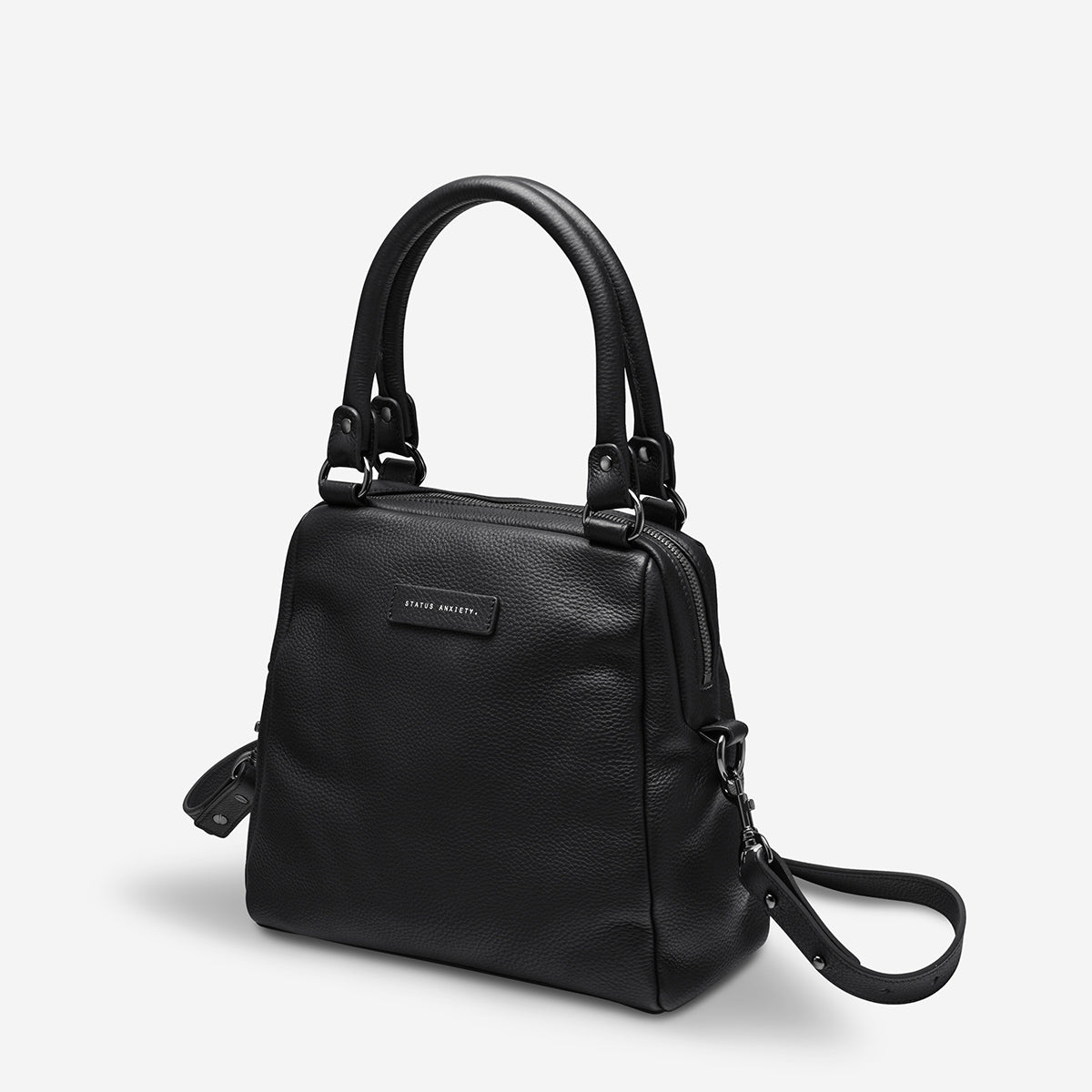 Status Anxiety Last Mountains Women's Leather Handbag - Black