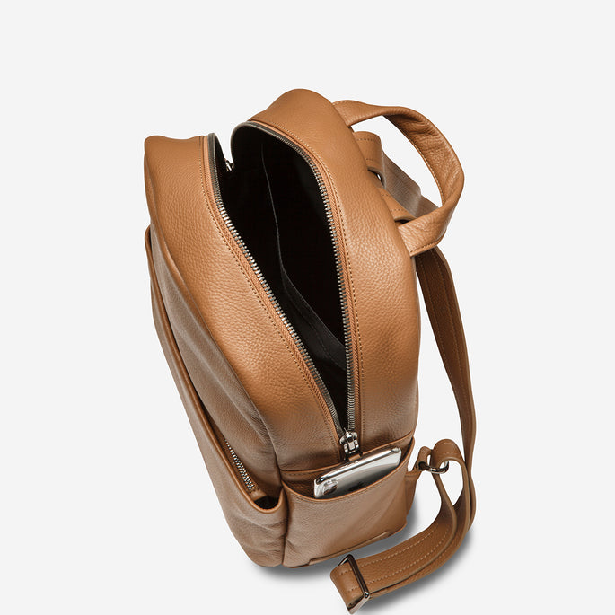 Status Anxiety People Like Us Unisex Leather Bag - tan