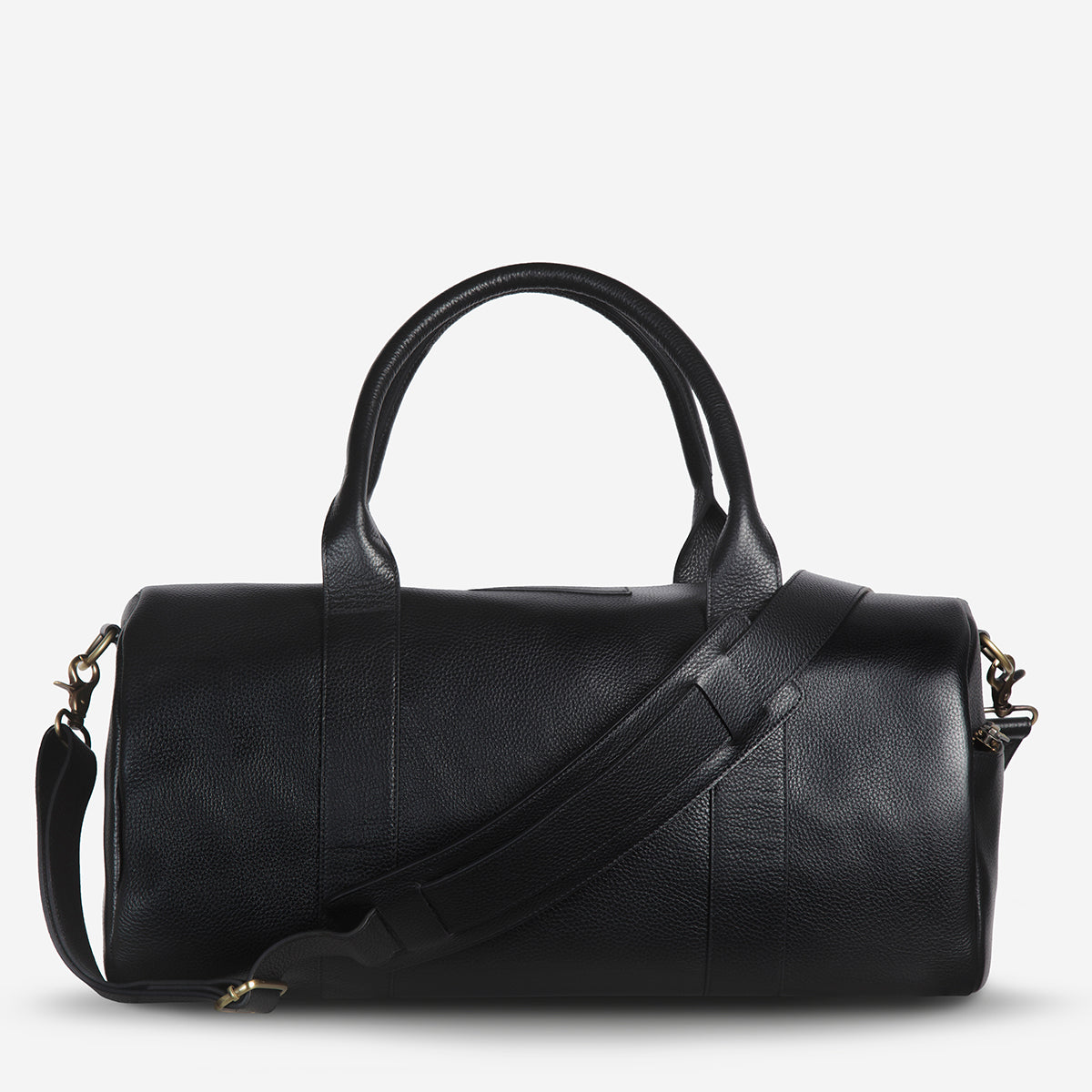 Status Anxiety Succession Leather Duffle Bag - Black