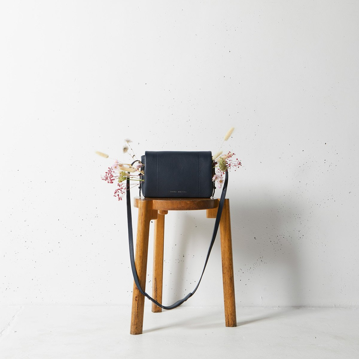 Status Anxiety Succumb Women's Leather Crossbody Bag - Navy Blue