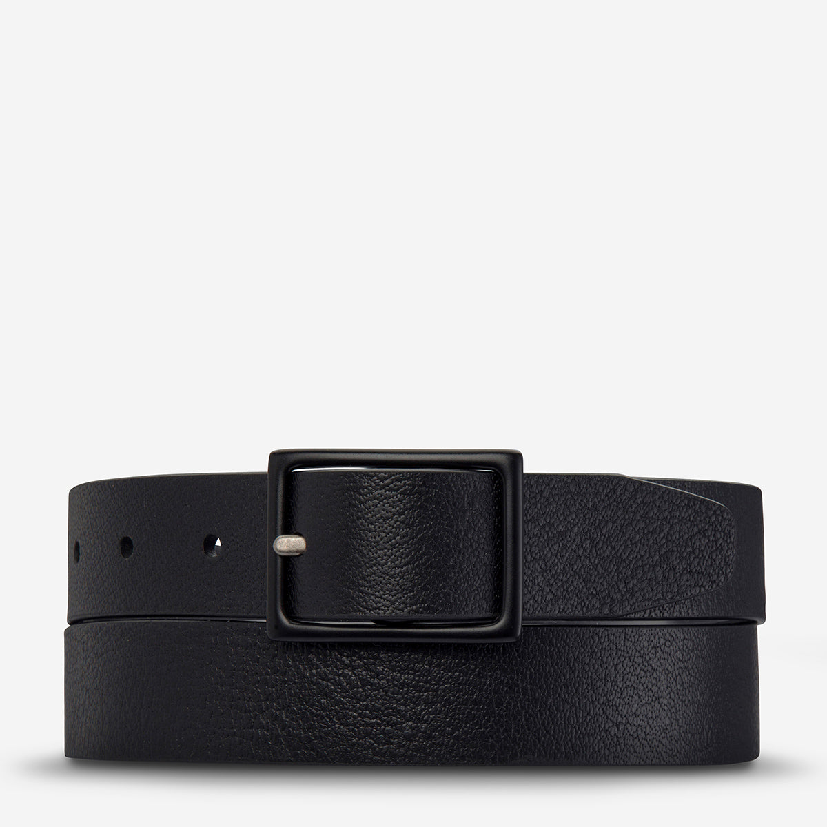 Status Anxiety Assertion Men's Leather Belt - Black