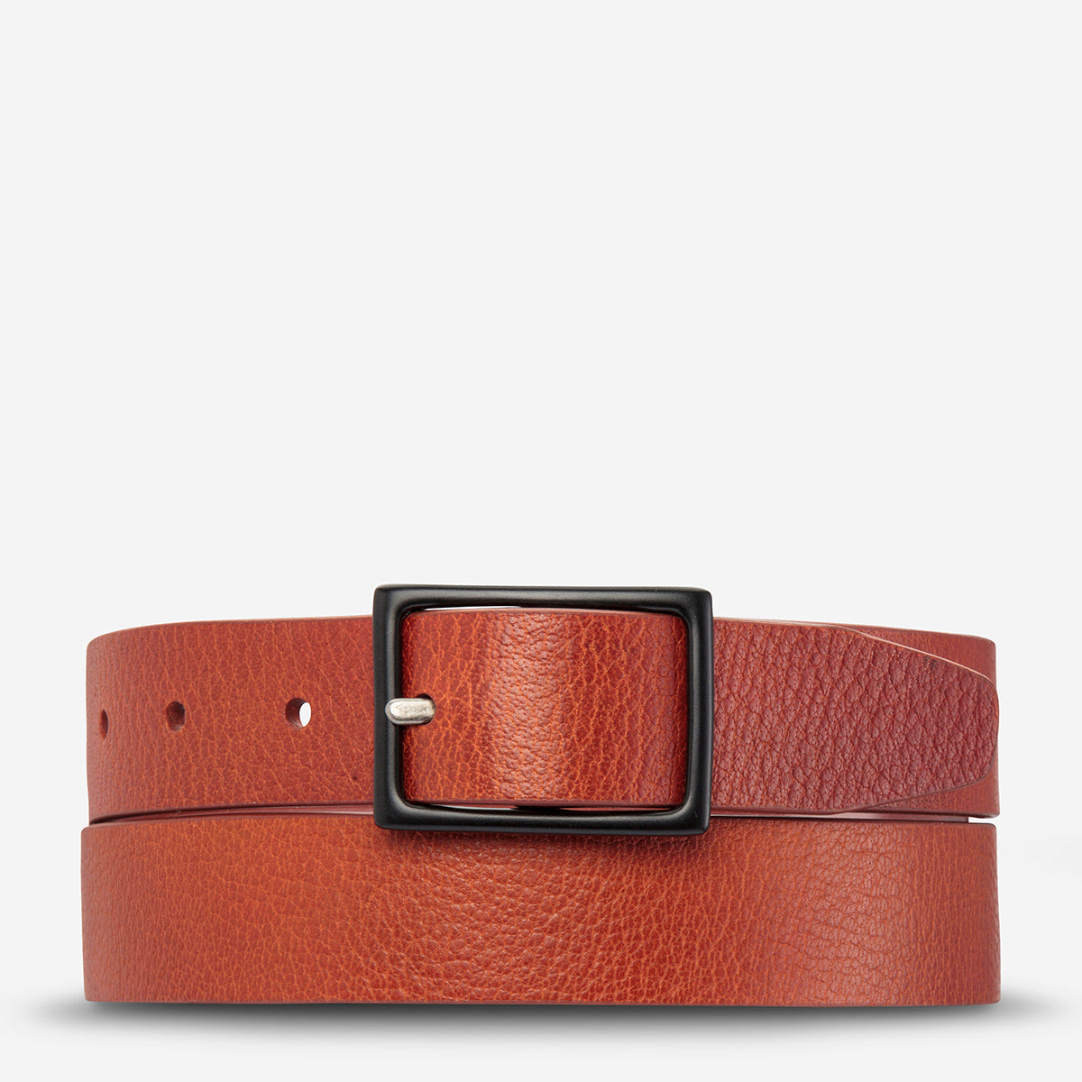 Status Anxiety Assertion Men's Leather Belt - Tan