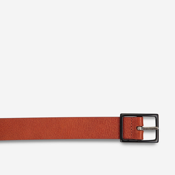 Status Anxiety Assertion Leather Belt - Tan