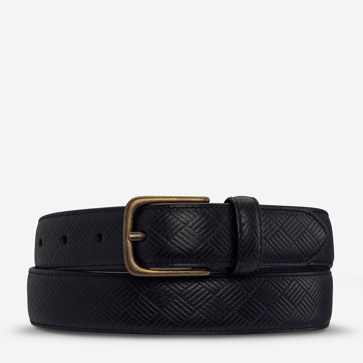 Status Anxiety Life After Men's Leather Belt - Black