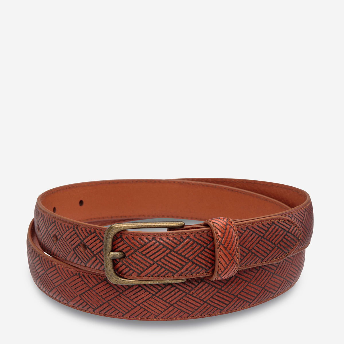 Status Anxiety Life After Men's Leather Belt - Tan