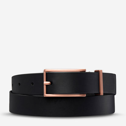 Status Anxiety Lonesome Tonight Women's Leather Belt - Black
