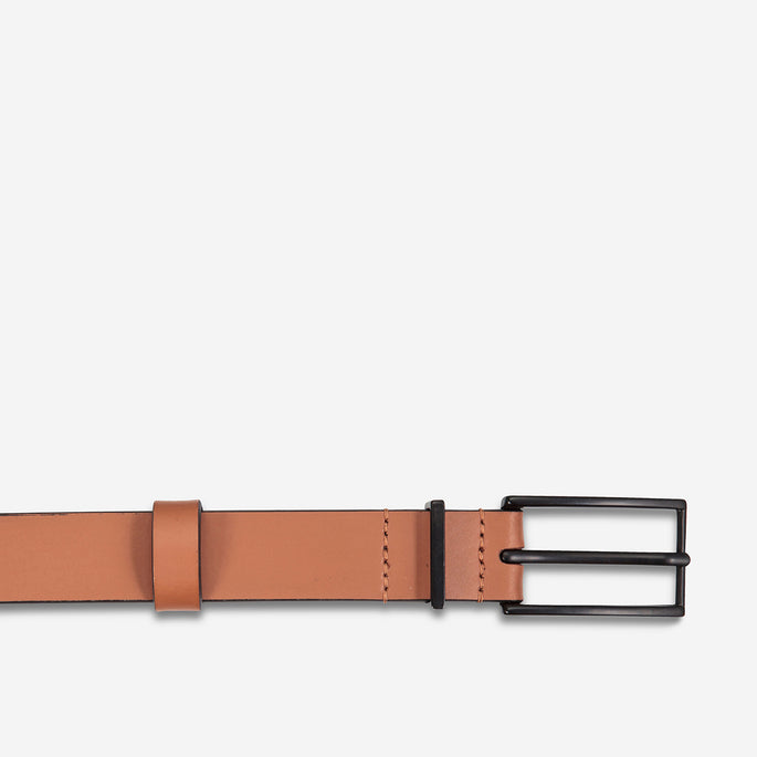 Status Anxiety Lonesome Tonight Leather Belt - Tan