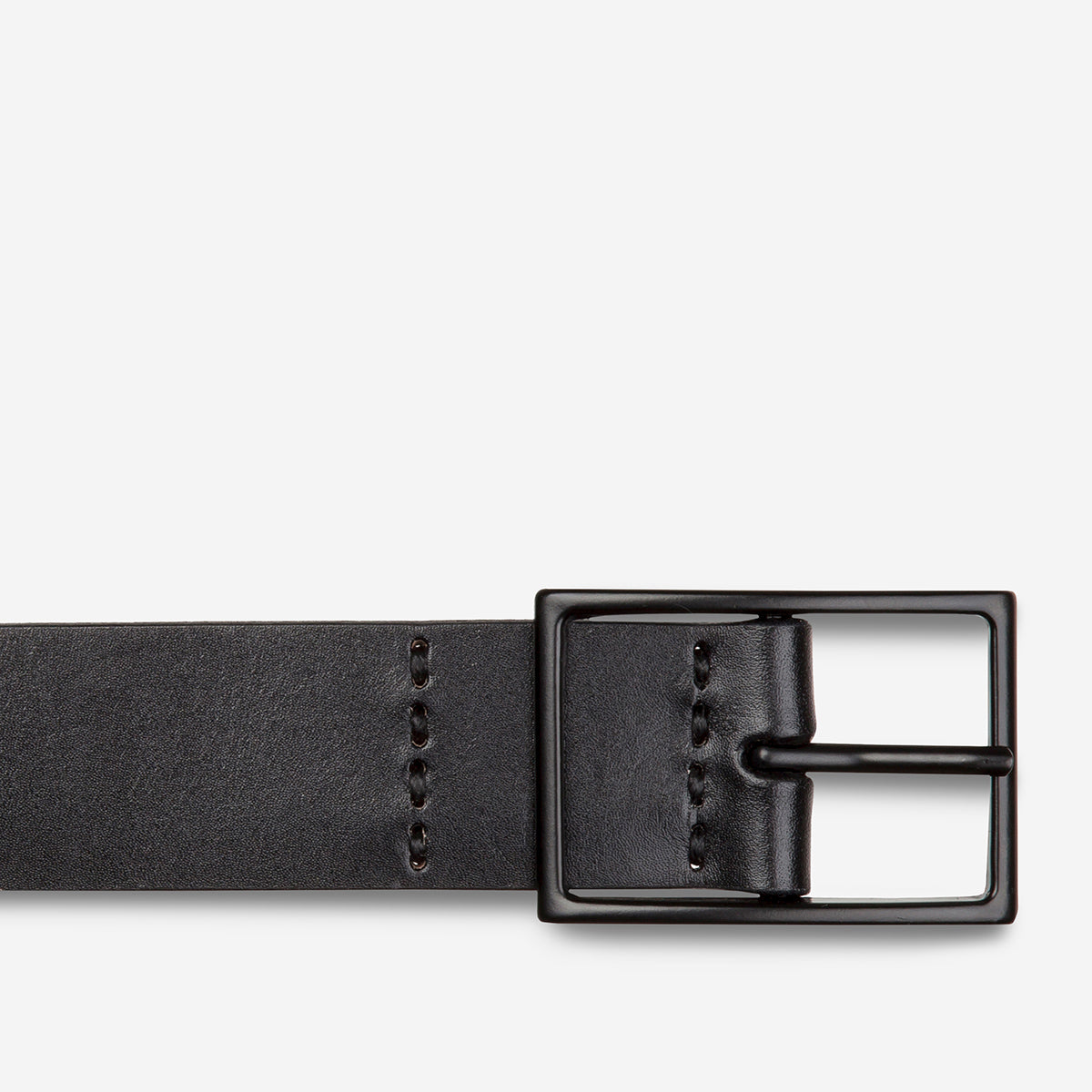 Status Anxiety Natural Corruption Men's Leather Belt - Black