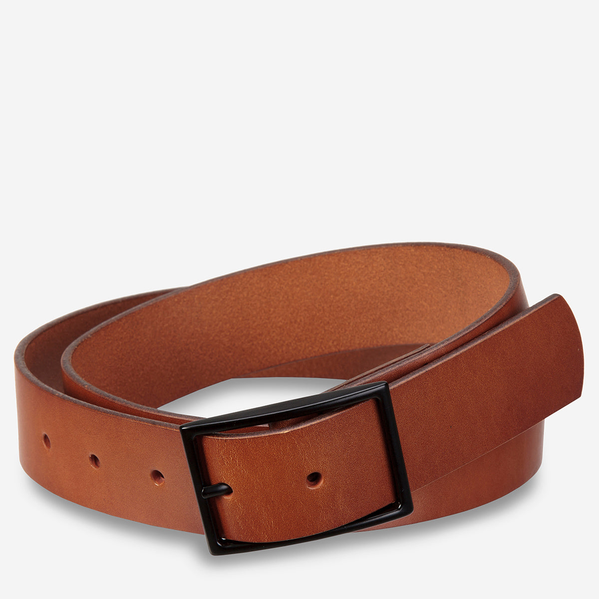 Status Anxiety Natural Corruption Men's Leather Belt - Tan
