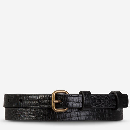 Status Anxiety Never Never Women's Leather Belt - Black