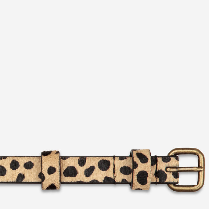 Status Anxiety Never Never Women's Leather Belt - Cheetah