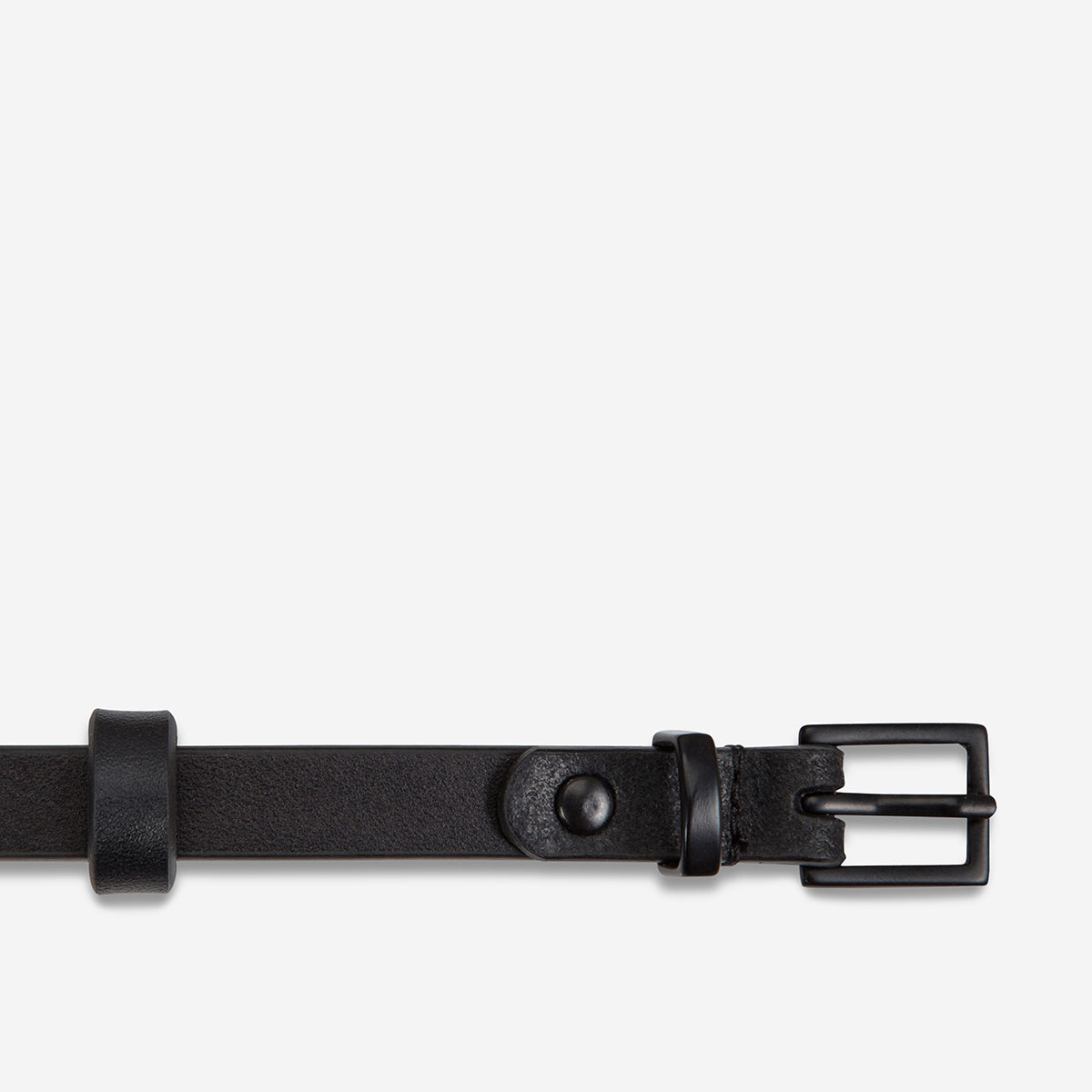 Status Anxiety One Little Victory Women's Leather Belt - Black