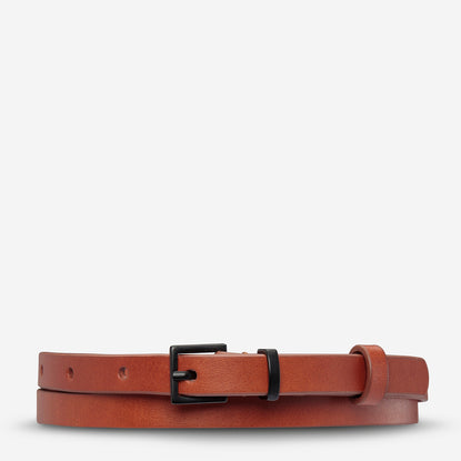 Status Anxiety One Little Victory Women's Leather Belt - Tan