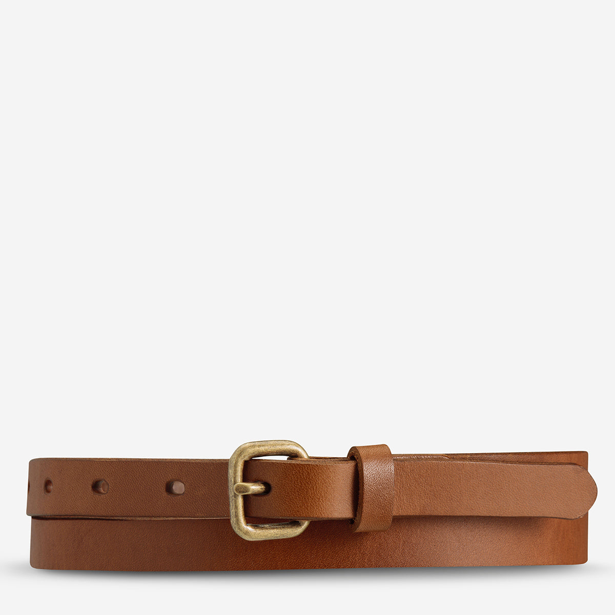 Status Anxiety Only Lovers Left Women's Leather Belt - Tan