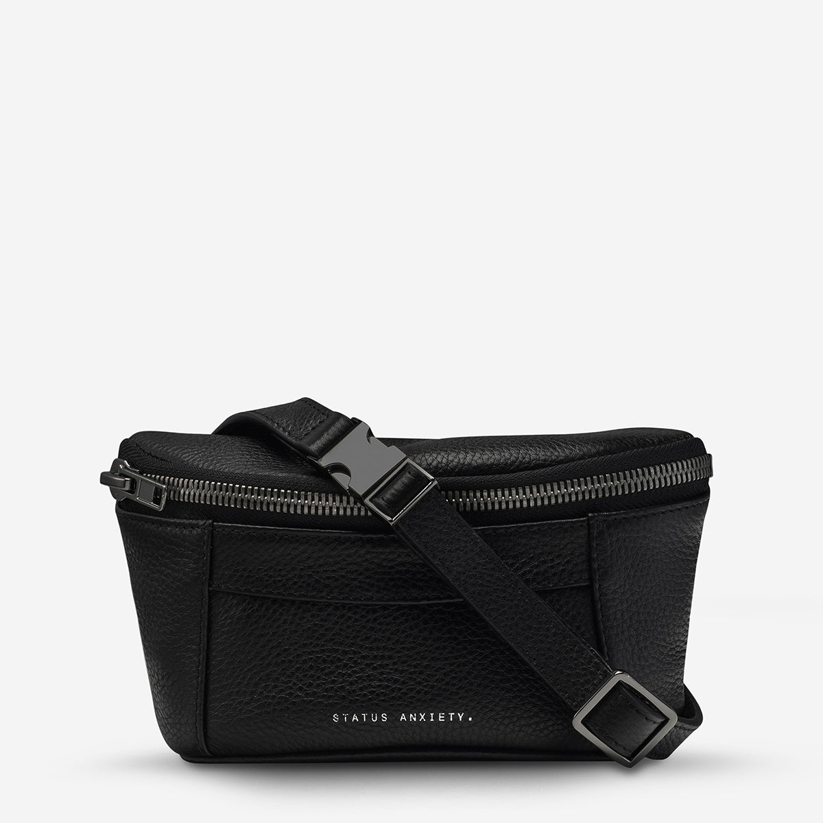 Status Anxiety Best Lies Women's Black Leather Bum Bag