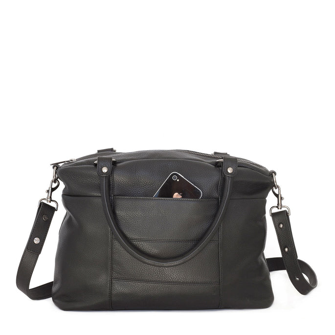 Status Anxiety Wanderer Leather Bag - Black
