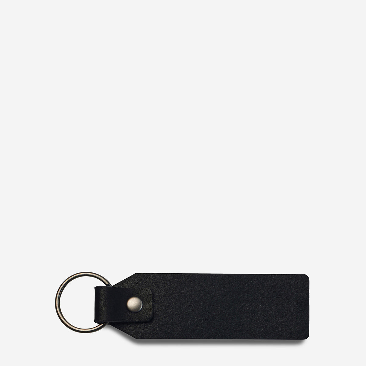Status Anxiety If I Stay Genuine Leather Keyring - Black