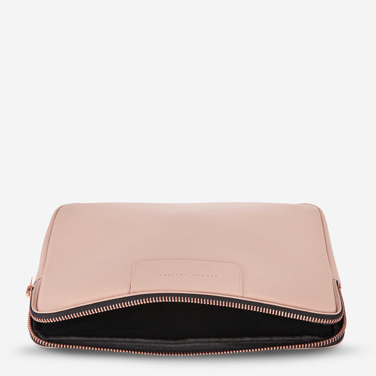 Status Anxiety Before I Leave Leather Laptop Case - Dusty Pink