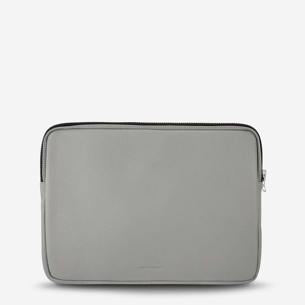 Status Anxiety Before I Leave Leather Laptop Case - Light Grey