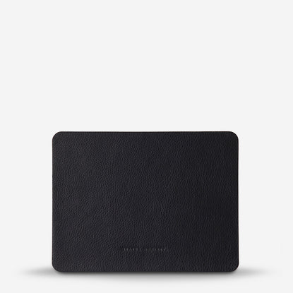 Status Anxiety Of Sound Mind Leather Mouse Pad - Black