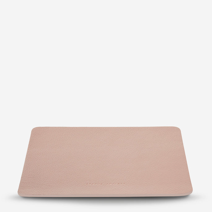 Status Anxiety Of Sound Mind Leather Mouse Pad - Dusty Pink