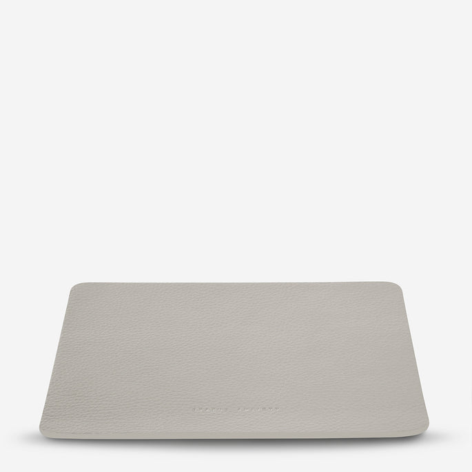 Status Anxiety Of Sound Mind Leather Mouse Pad - Light Grey