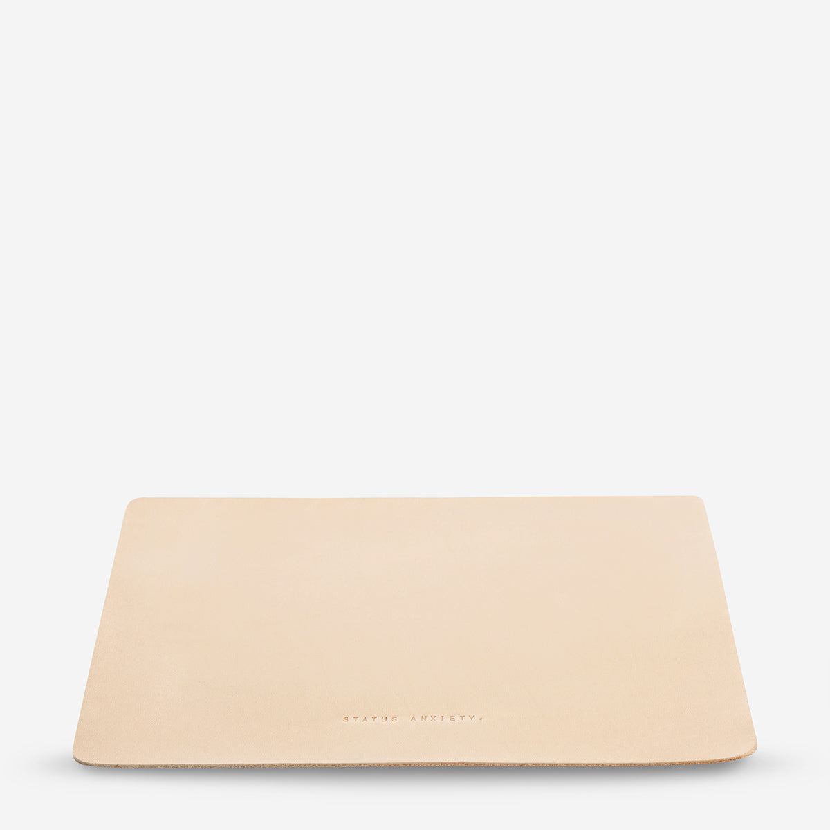 Status Anxiety Of Sound Mind Leather Mouse Pad - Natural