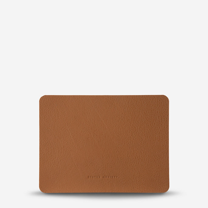 Status Anxiety Of Sound Mind Leather Mouse Pad - Tan