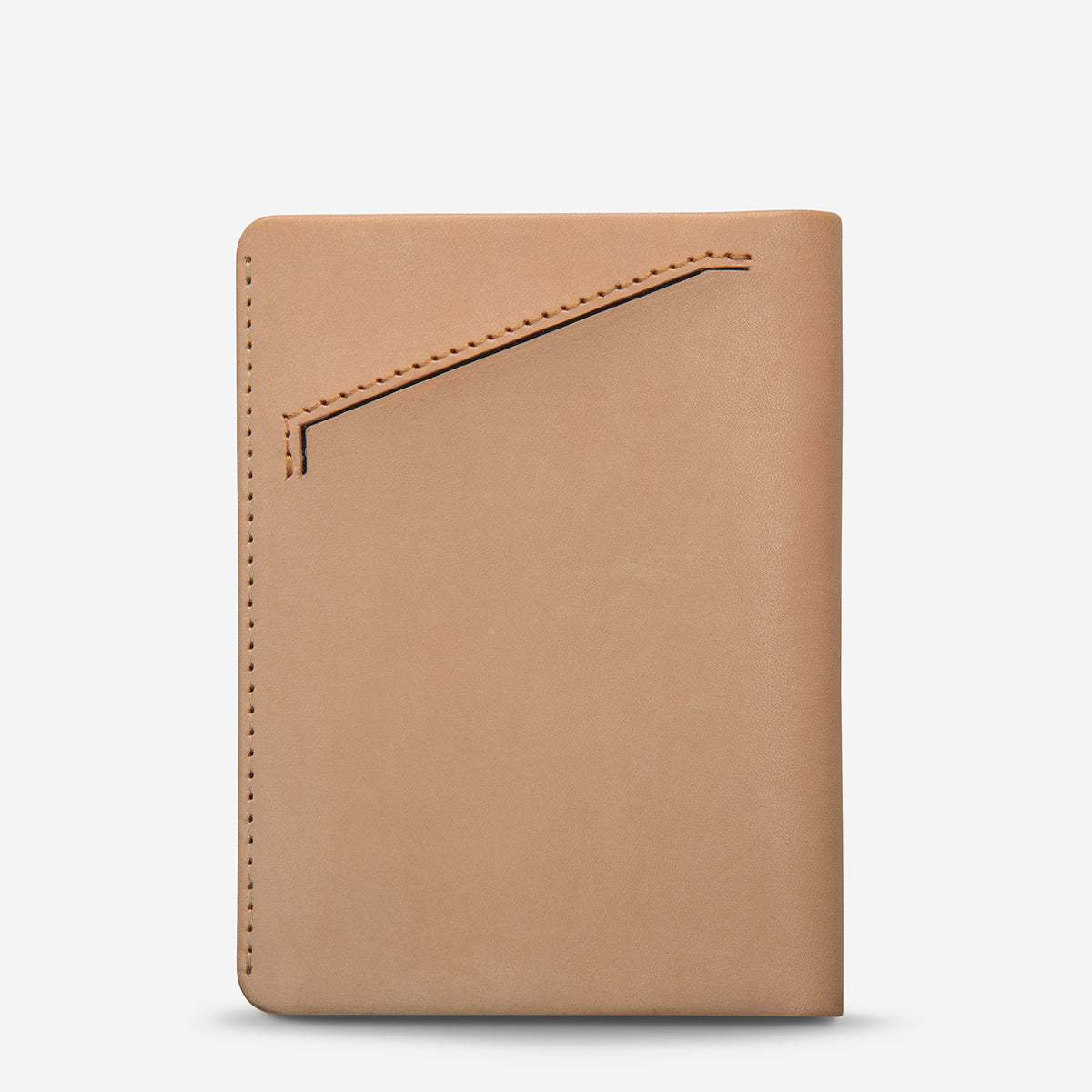 Status Anxiety Conquest Leather Passport Wallet - Tan