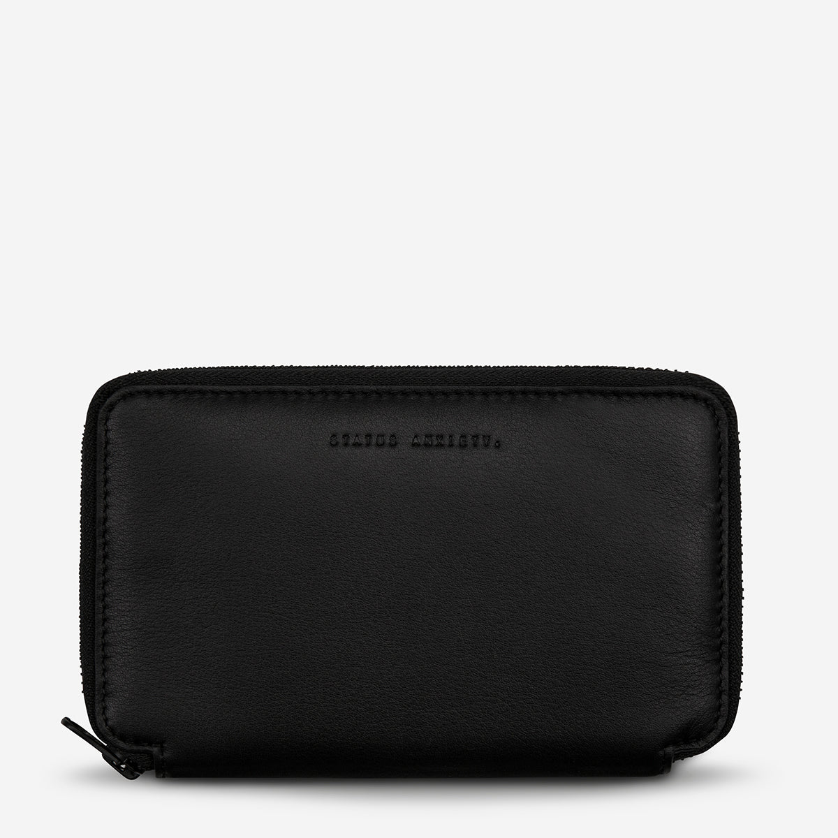 Status Anxiety Leather Travel Wallet Vow Black