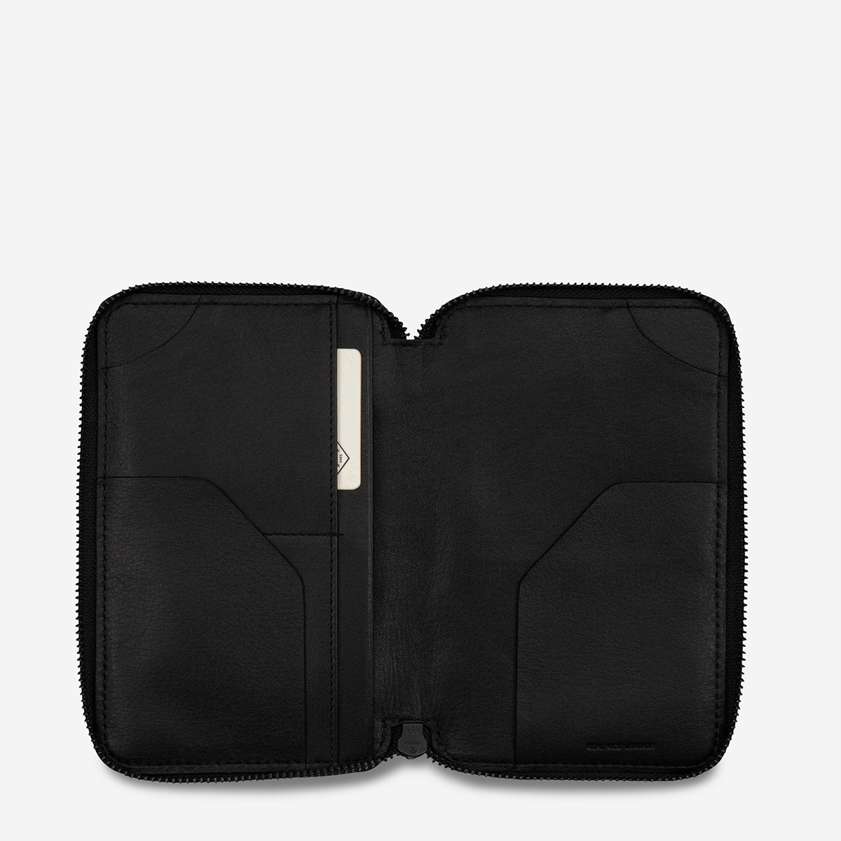 Status Anxiety Leather Travel Wallet Vow - Black