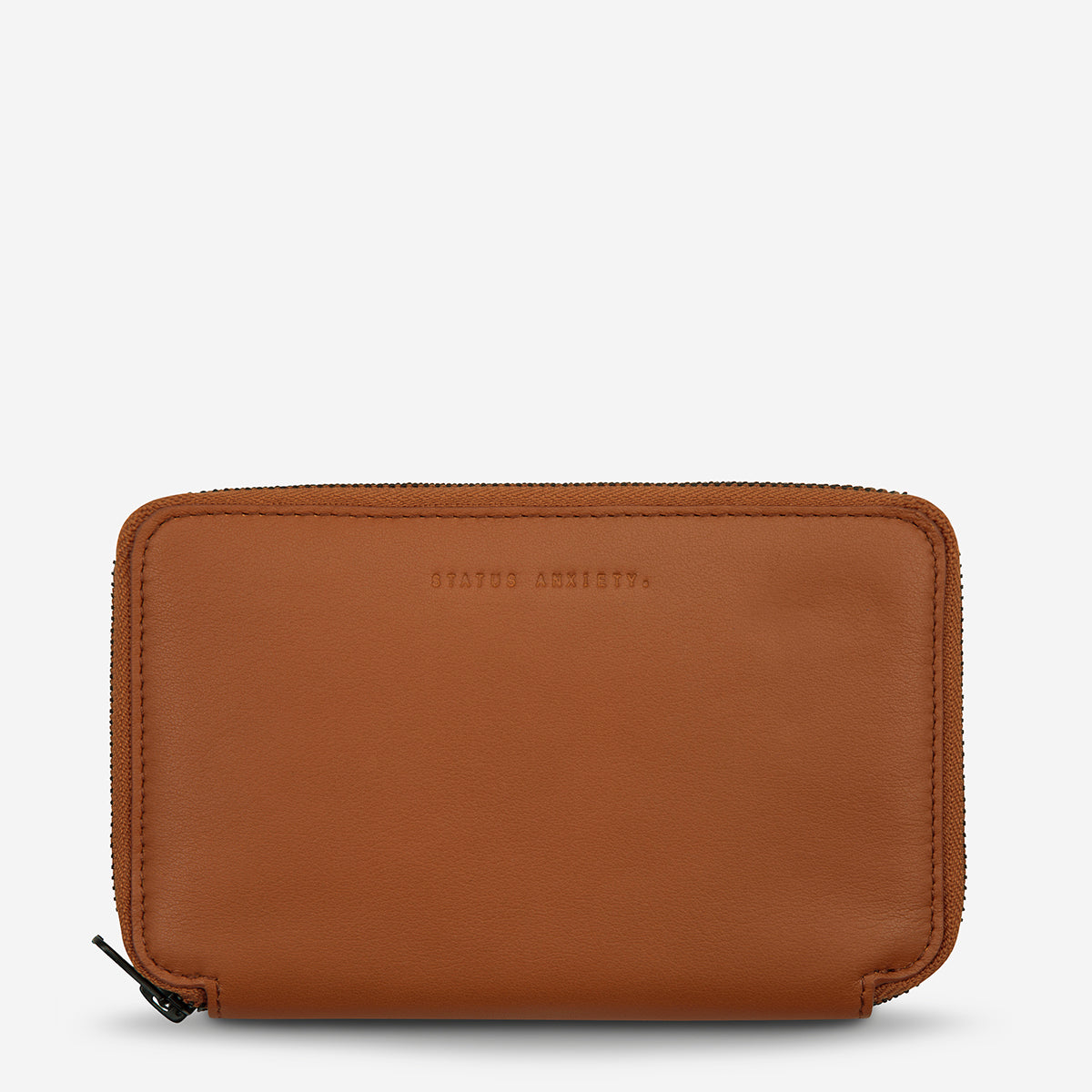 Status Anxiety Vow Leather Travel Wallet - Camel