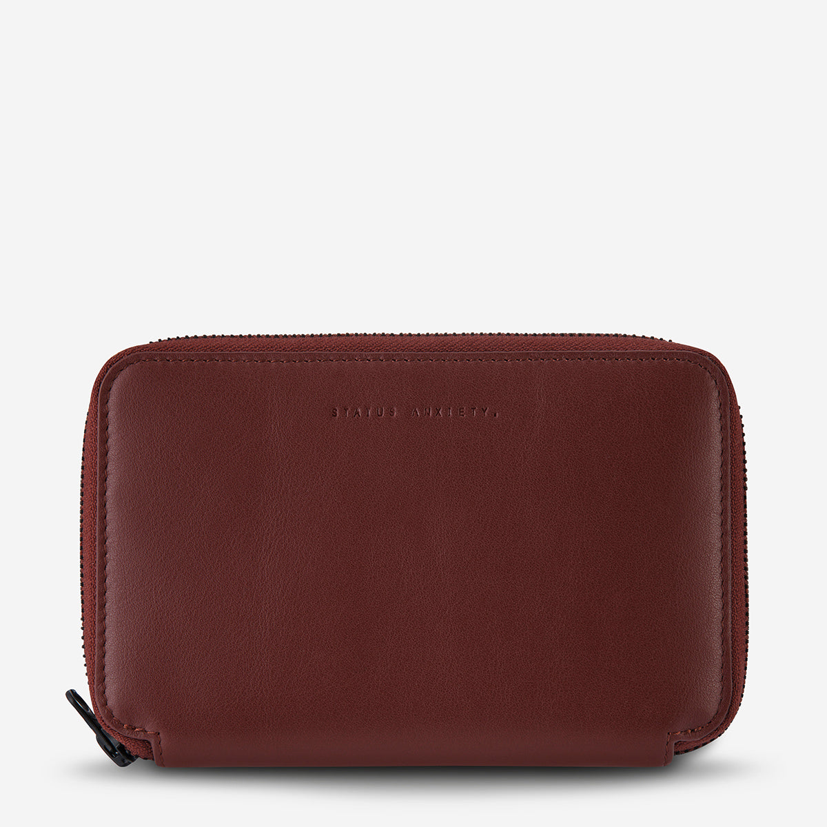 Status Anxiety Leather Travel Wallet Vow - Cognac