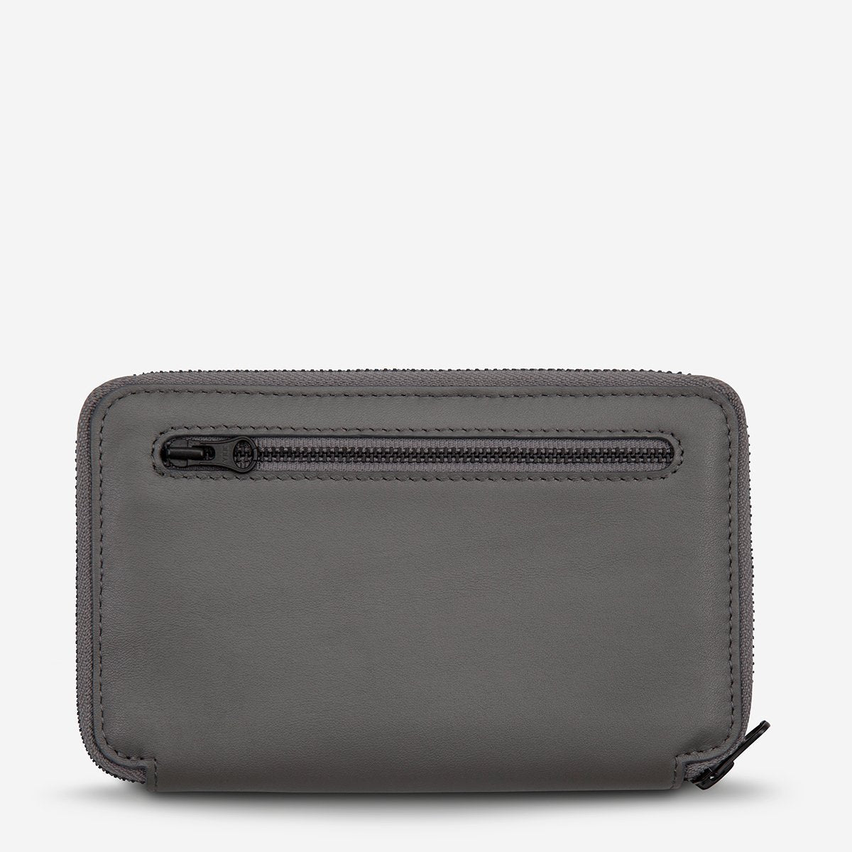 Status Anxiety Leather Travel Wallet Vow - Slate