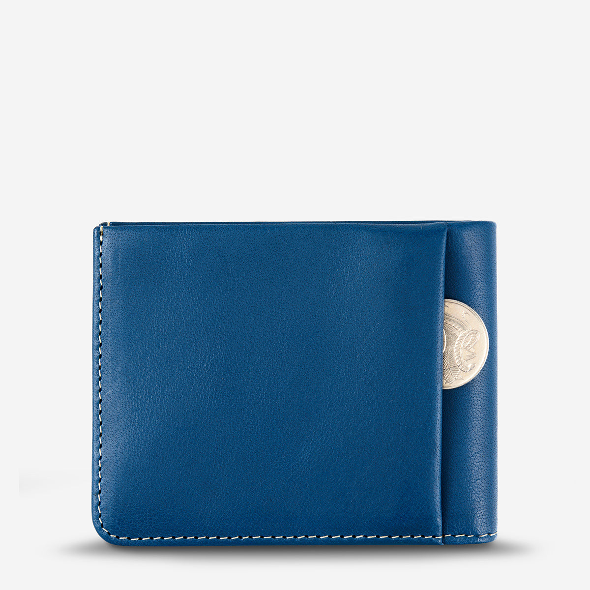 Status Anxiety Alfred Men's Slim Leather Wallet - Blue
