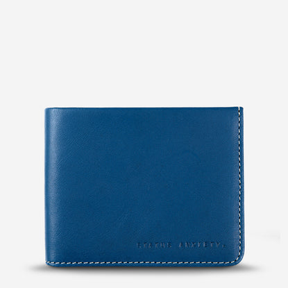 Status Anxiety Alfred Slim Leather Wallet - Blue