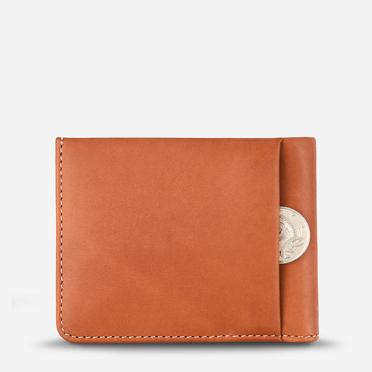 Status Anxiety Alfred Men's Slim Leather Wallet - Camel