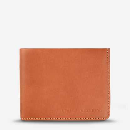 Status Anxiety Alfred Slim Leather Wallet - Camel
