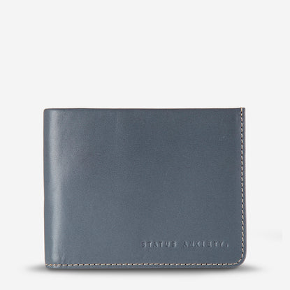 Status Anxiety Alfred Men's Slim Leather Wallet - Slate