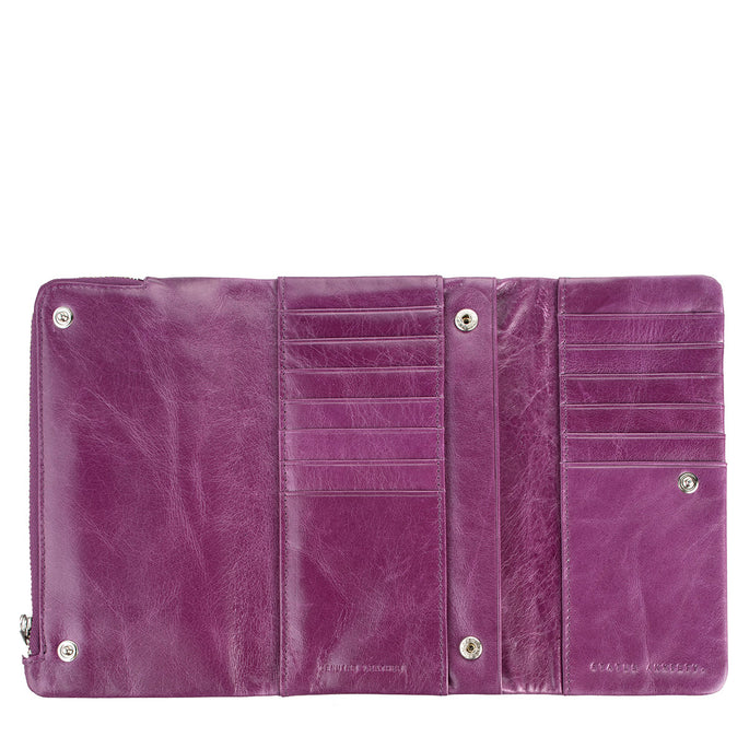 Status Anxiety Audrey Leather Wallet - Purple