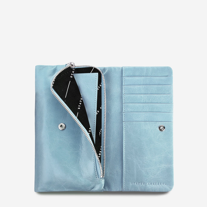Status Anxiety Audrey Leather Wallet - Sky