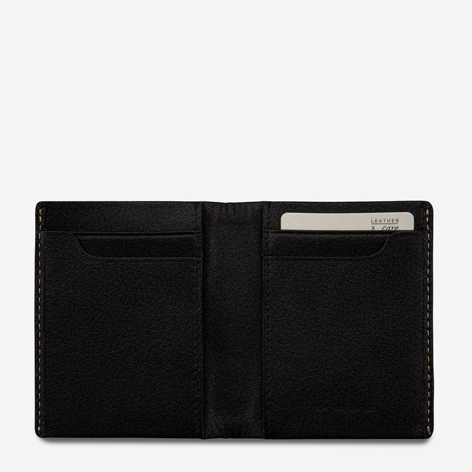 Status Anxiety Thin Card Wallet Edwin - Black
