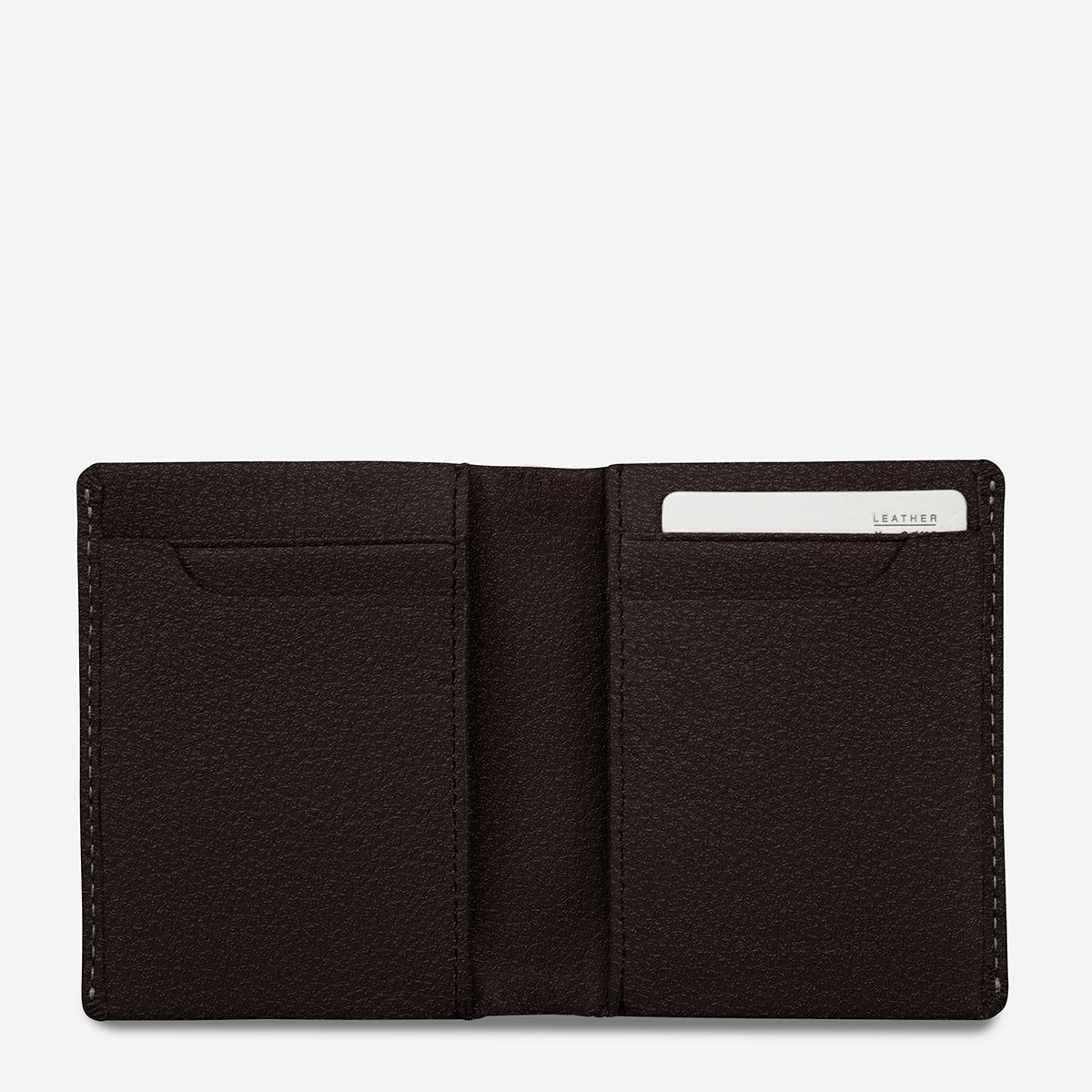 Status Anxiety Edwin Thin Card Wallet - Chocolate