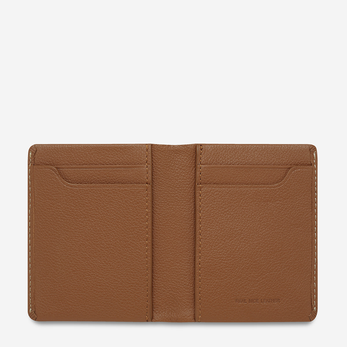 Status Anxiety Edwin Thin Card Wallet - Camel