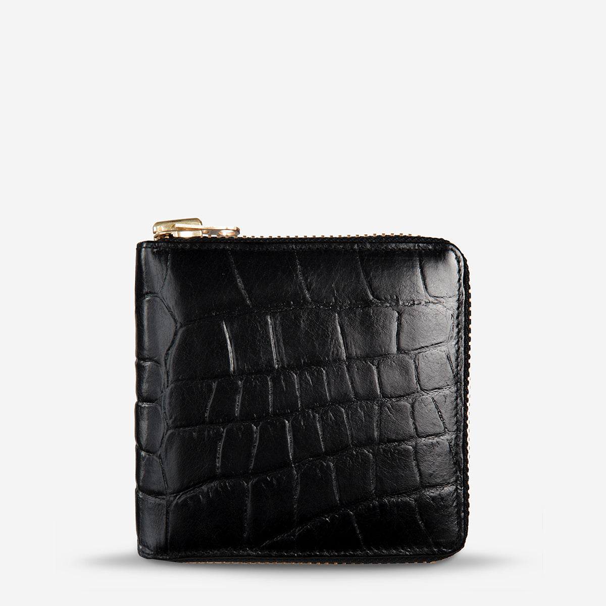 c690523ae307 Empire - Black Croc  Status Anxiety Empire Women s Leather Wallet - Black  ...