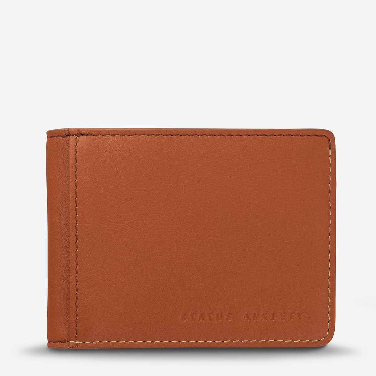 Status Anxiety Ethan Men's Slim leather Wallet - Camel