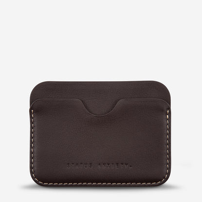 Status Anxiety Gus Card Wallet - Chocolate